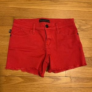 Rock & Republic Red Cutoff Shorts Size 4